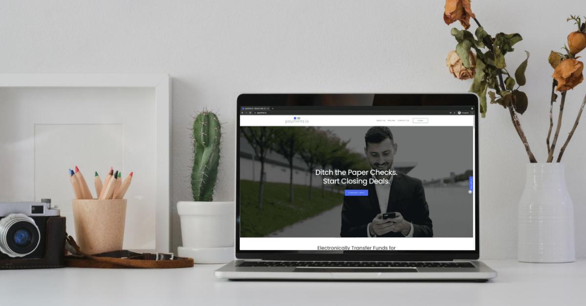 paymints.io website on laptop screen